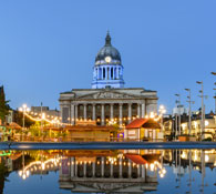 Live property market data for Nottingham - house prices, price per square foot and rental yields