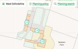 Jump into local planning policies / search from the plot map