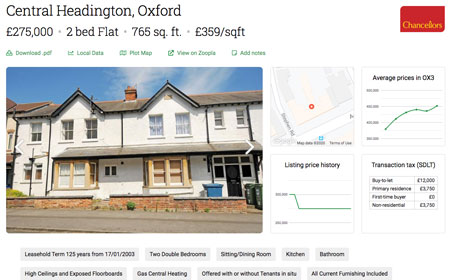 Find comparable properties and view simple property reports with important data